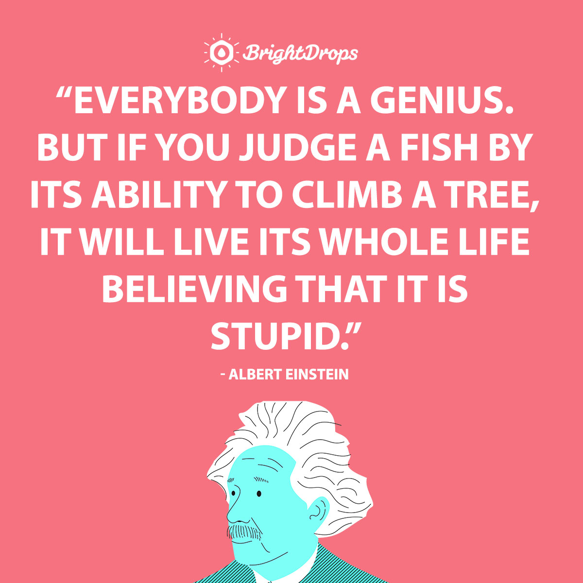 Everybody is a genius. But if you judge a fish by its ability to climb a tree, it will live its whole life believing that it is stupid. - Albert Einstein