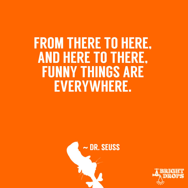 """From there to here, and here to there, funny things are everywhere."" ~ Dr. Seuss"