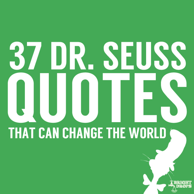Quotes About Change Inspiration 48 Dr Seuss Quotes That Can Change the World Bright Drops