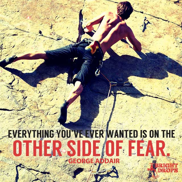 """Everything you've ever wanted is on the other side of fear."" ~George Addair"