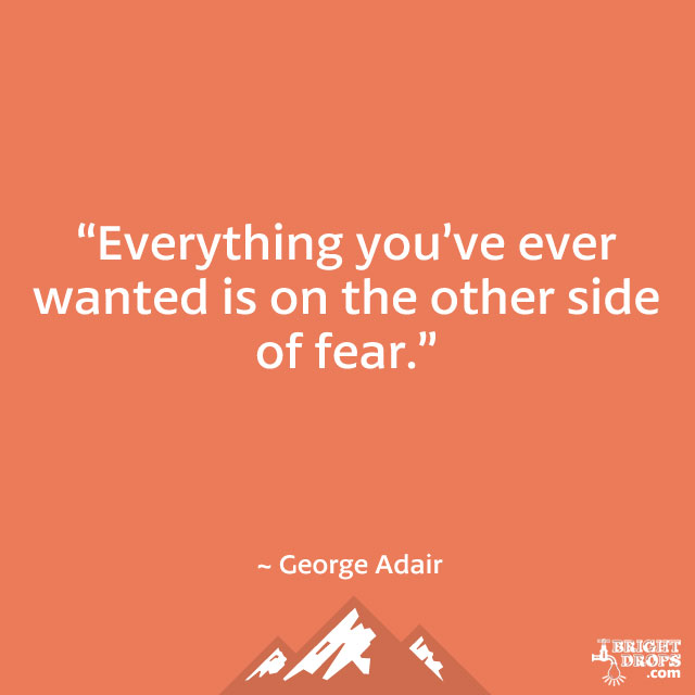 """Everything you've ever wanted is on the other side of fear."" ~ George Adair"