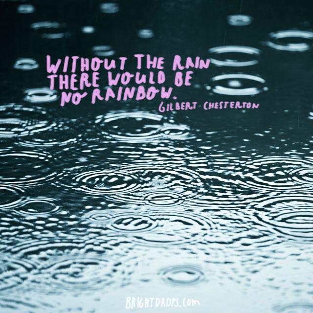 "Gilbert Chesterton on Rain and Rainbows. >"""