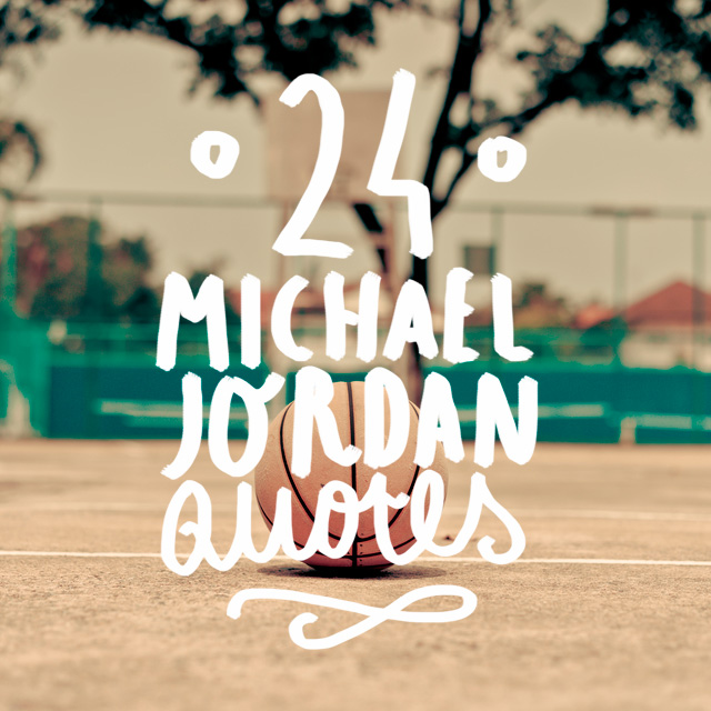 Next time you need to be inspired, motivated or just need a boost. Take a look at these wise words from Michael Jordan.