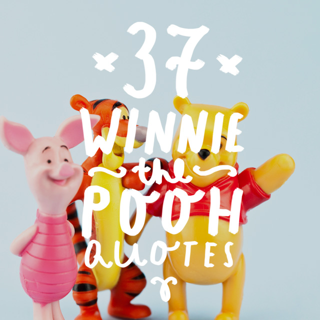 Who doesn't love a nice Winnie the Pooh quote? These are the perfect pick-me-ups when you're feeling a bit like Eeyore or Piglet and you'd rather feel like Tigger or Pooh.