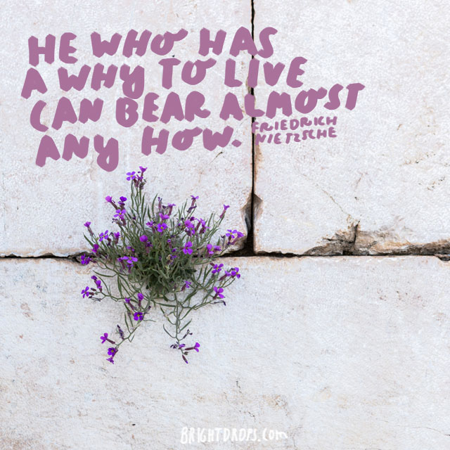 """He who has a why to live can bear almost any how."" - Friedrich Nietzsche"