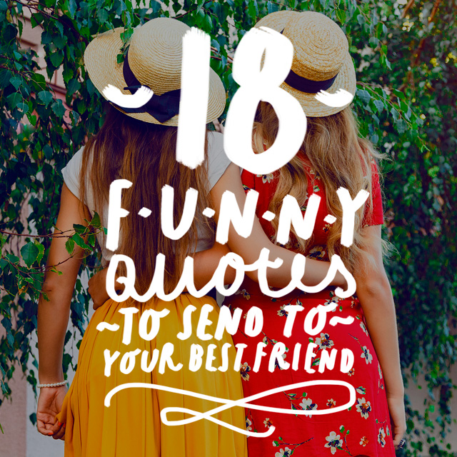 Best Friend Funny Quotes Interesting 48 Funny Quotes To Send To Your Best Friend Bright Drops