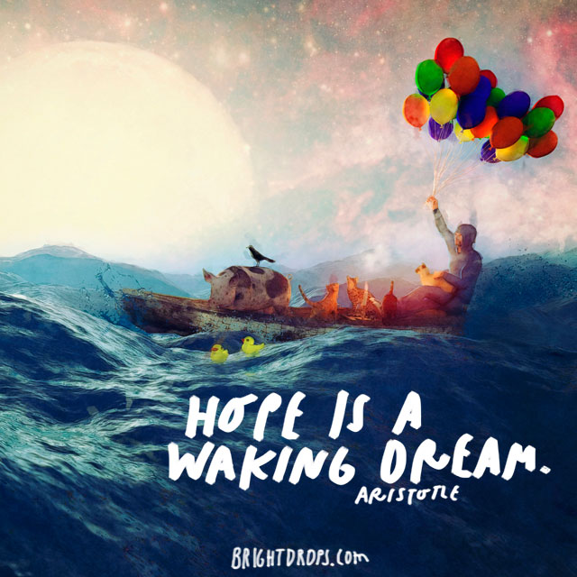 """Hope is a waking dream."" - Aristotle"