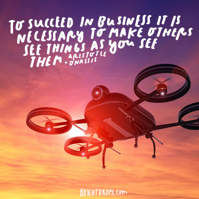 """To succeed in business it is necessary to make others see things as you see them."" - Aristotle Onassis"