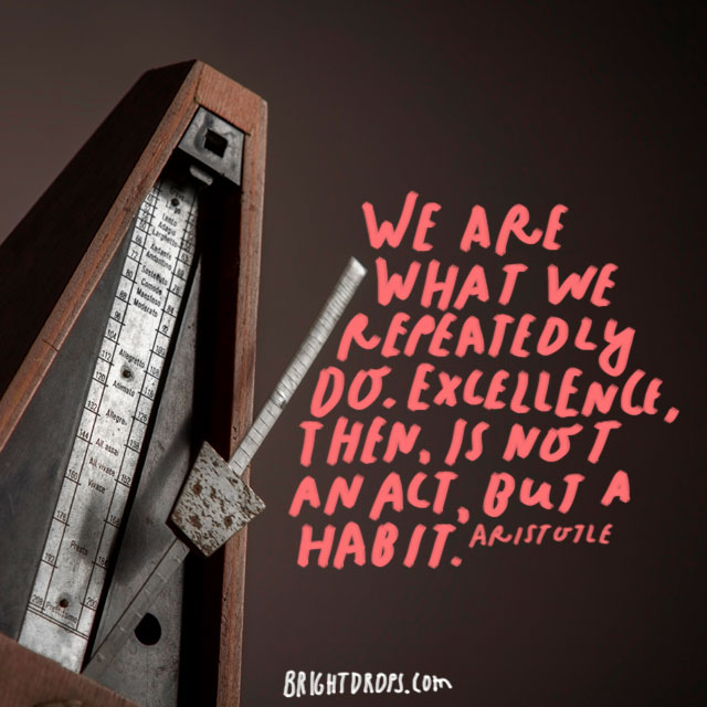 """We are what we repeatedly do. Excellence, then, is not an act, but a habit."" - Aristotle"