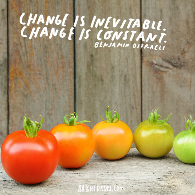 """Change is inevitable. Change is constant."" - Benjamin Disraeli"