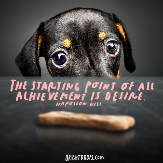 """The starting point of all achievement is desire."" - Napoleon Hill"
