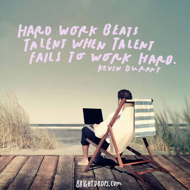 "81455f9347 ""Hard work beats talent when talent fails to work hard."" – Kevin Durant. """