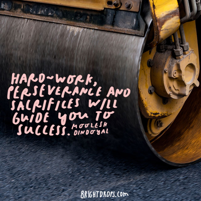 """Hard-work, perseverance and sacrifices will guide you to success."" – Moolesh Dindoyal"