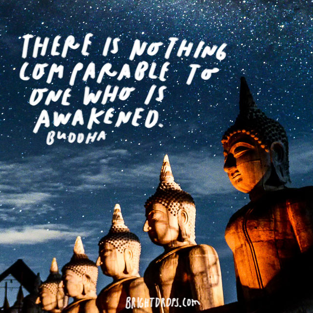 """There is nothing comparable to one who is Awakened."" – Buddha"