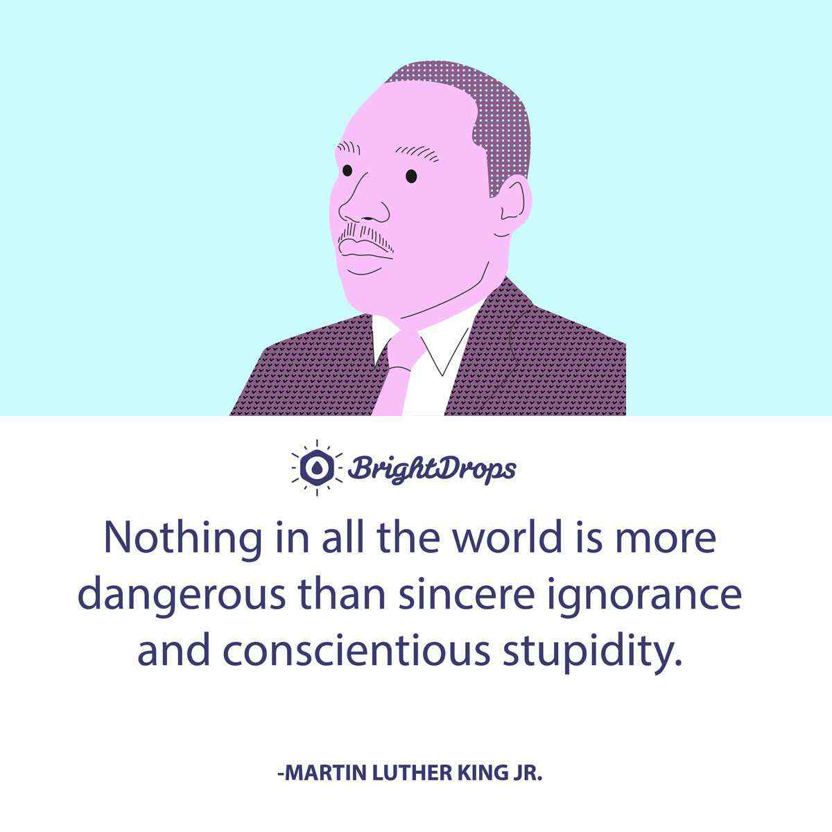 Nothing in all the world is more dangerous than sincere ignorance and conscientious stupidity. -Martin Luther King Jr.