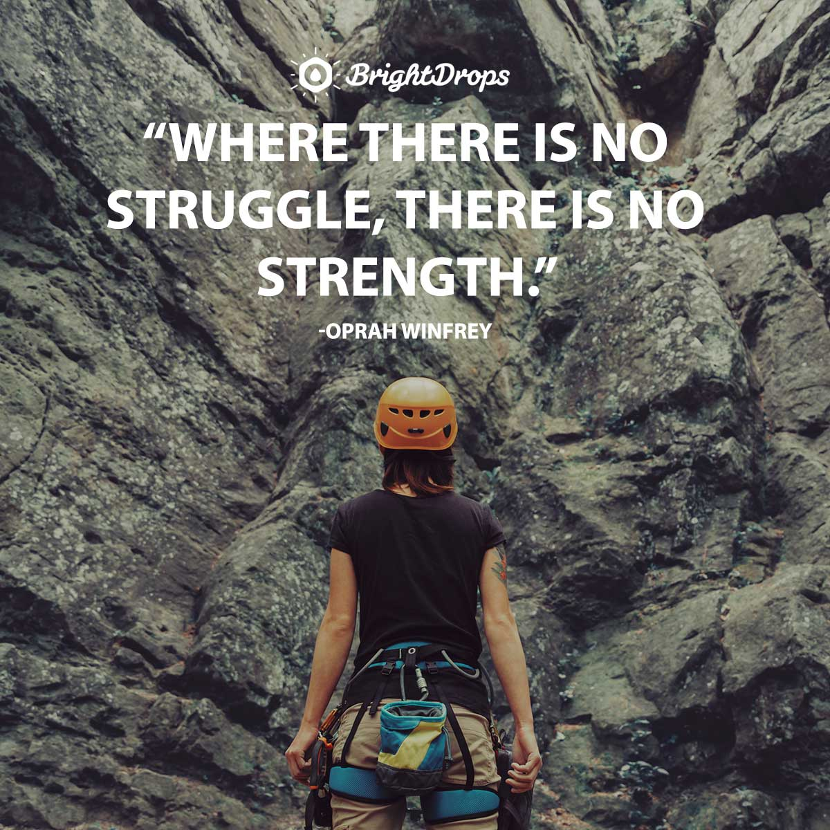 Where there is no struggle, there is no strength. -Oprah Winfrey