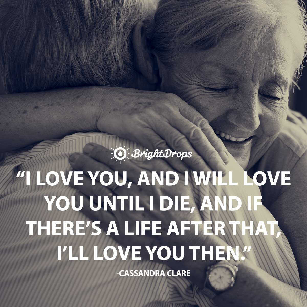 I love you, and I will love you until I die, and if there's a life after that, I'll love you then. -Cassandra Clare
