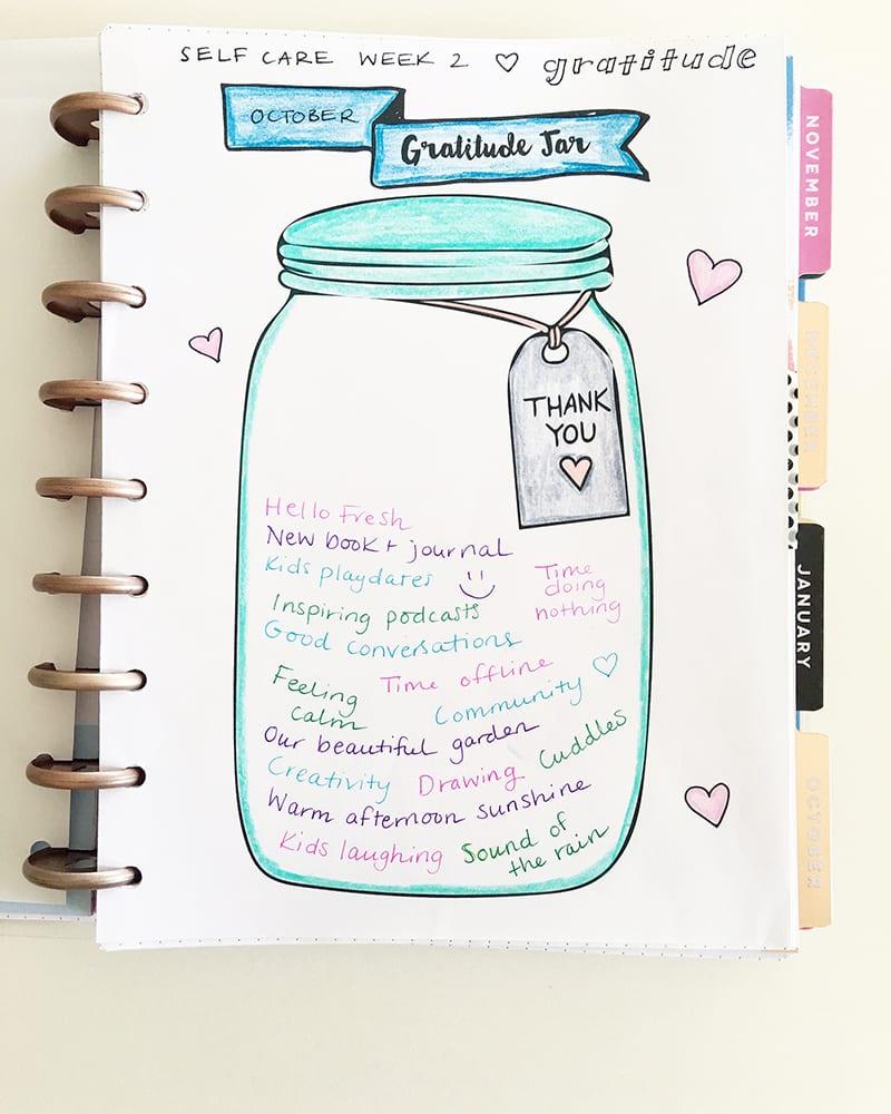 Gratitude Jar Journal Page