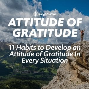 11 Habits to Develop an Attitude of Gratitude In Every Situation