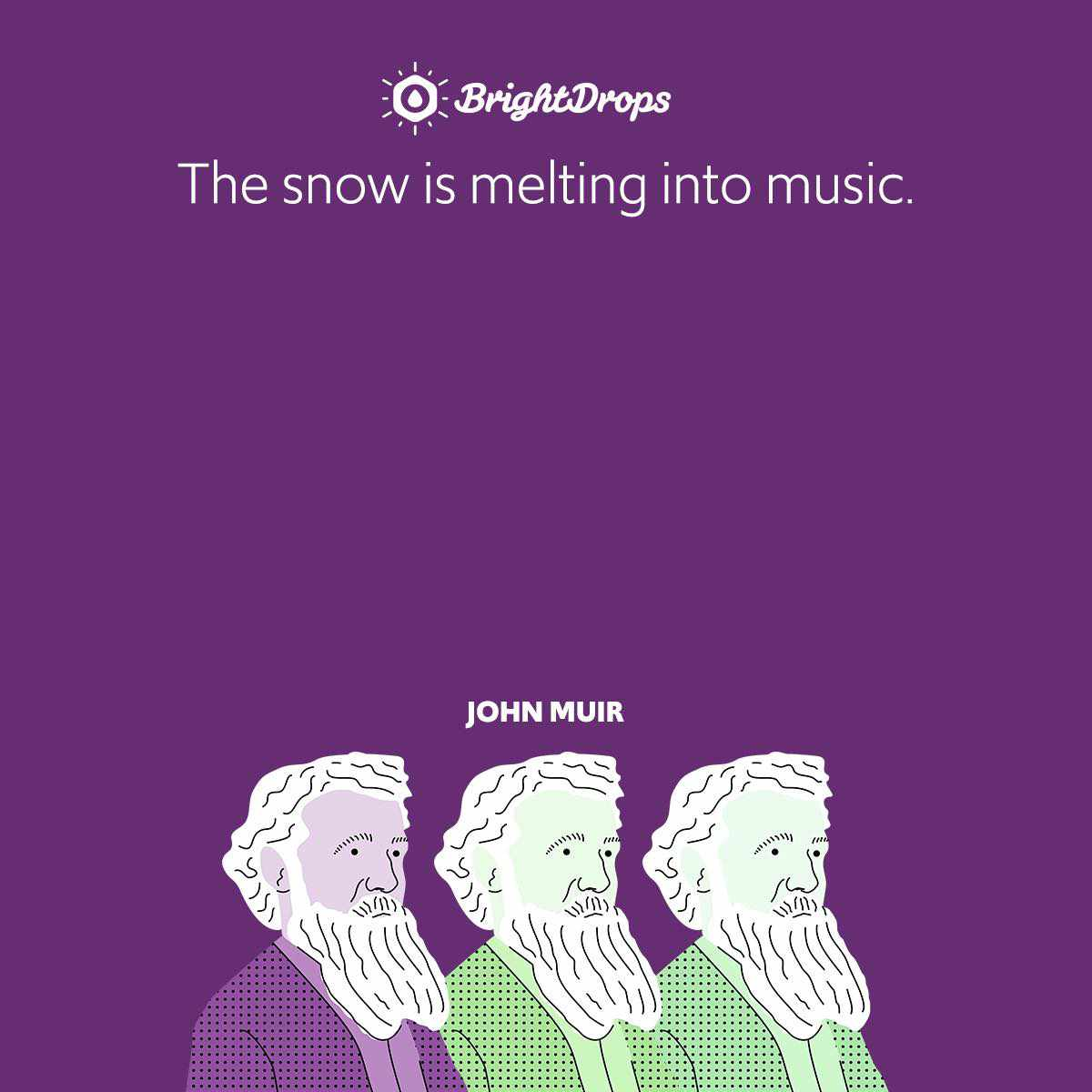 The snow is melting into music.