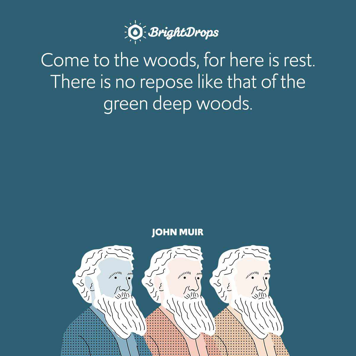 Come to the woods, for here is rest. There is no repose like that of the green deep woods.