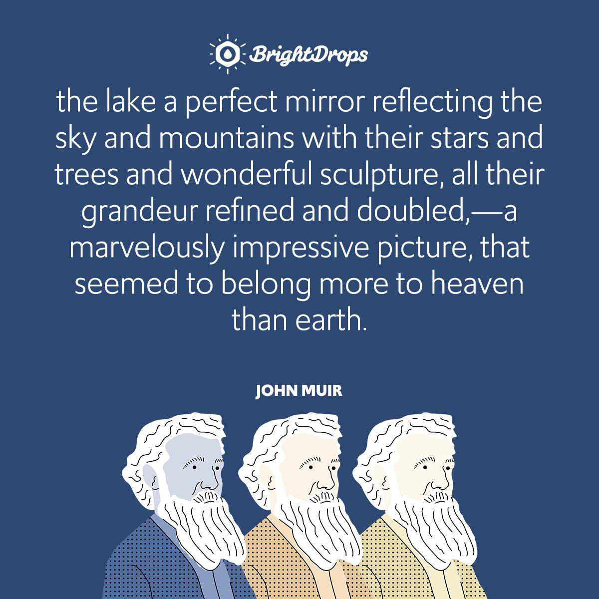 the lake a perfect mirror reflecting the sky and mountains with their stars and trees and wonderful sculpture, all their grandeur refined and doubled,—a marvelously impressive picture, that seemed to belong more to heaven than earth.