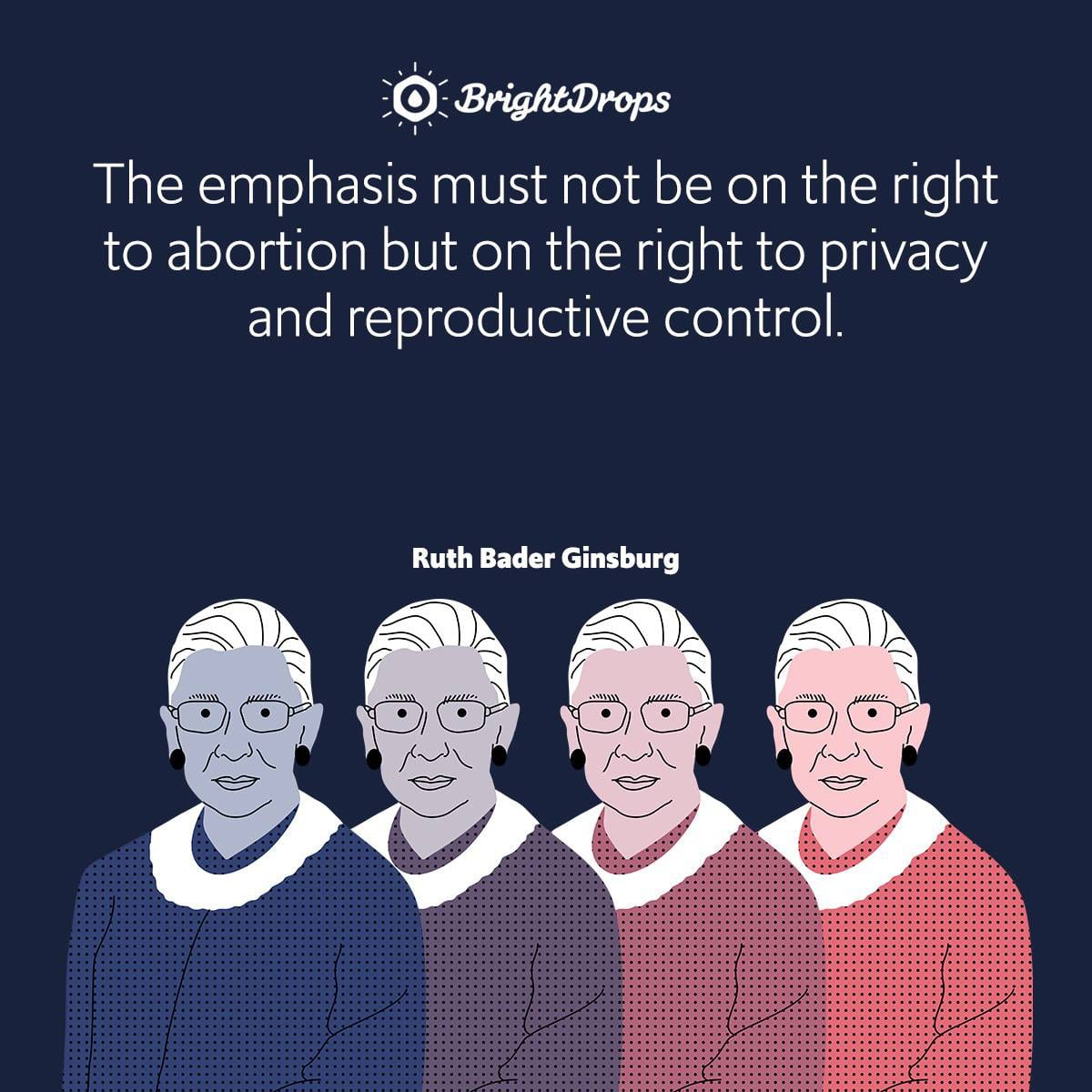 The emphasis must not be on the right to abortion but on the right to privacy and reproductive control.