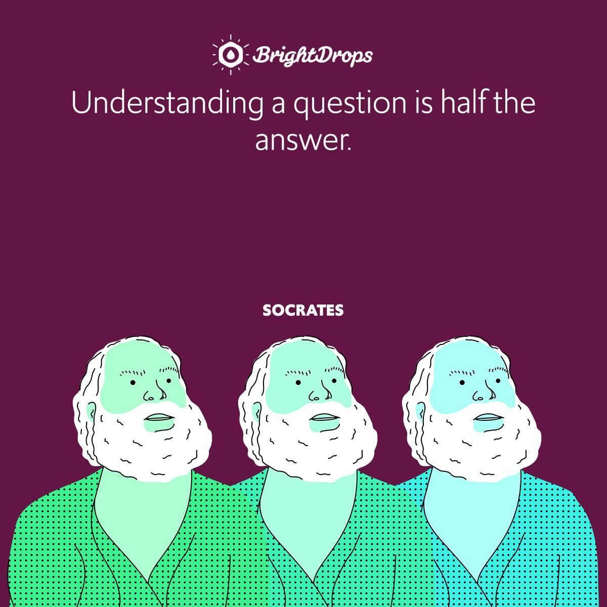 Understanding a question is half the answer.